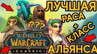 ВЫБОР РАСЫ ДЛЯ КЛАССА В WORLD OF WARCRAFT CLASSIC!!!