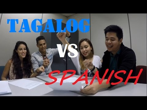 TAGALOG VS. SPANISH - LANGUAGE CHALLENGE!