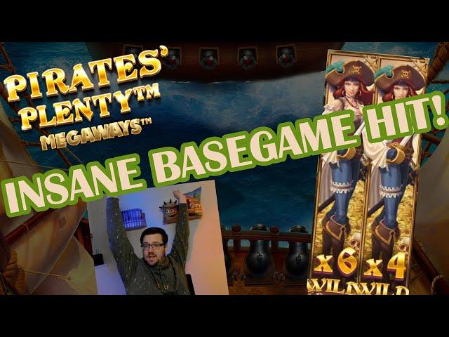 Insane basegame hit on Pirates Plenty Megaways!