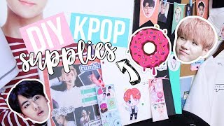 DIY KPOP School Supplies! BTS, EXO, Folders, Binders and More! (B2S Collab)   Hunnie Bunnie ♡♡♡