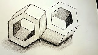 How To Draw 3D Optical Illusions ✍  Inseparable