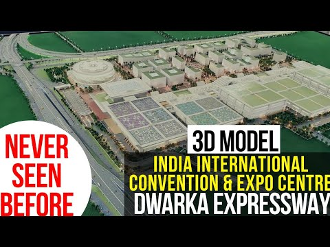 Exclusive: 3D Model of India International Convention & Expo Centre on Dwarka Expressway, New Delhi