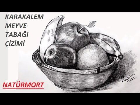 natürmort çizimi | meyve sepeti çizimi | Kolay meyve sepeti çizimi | Meyve Tabağı resmi çizimi kolay