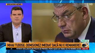Ședință la PSD. Premierul Mihai Tudose: Demisionez imediat, dacă nu e remaniere