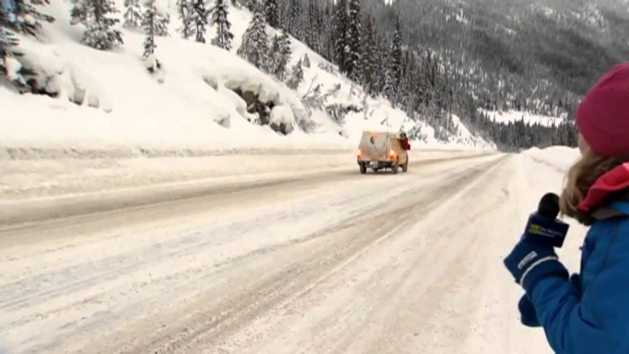 Triggered Avalanche Caught On Camera In Bc S Kootenay Pass Youtube