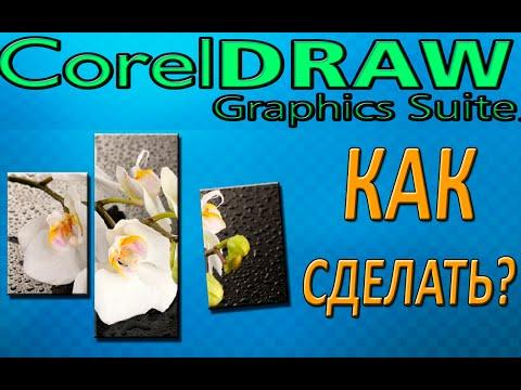 Как сделать модульные картины в CorelDraw X6? 2015 (HD)