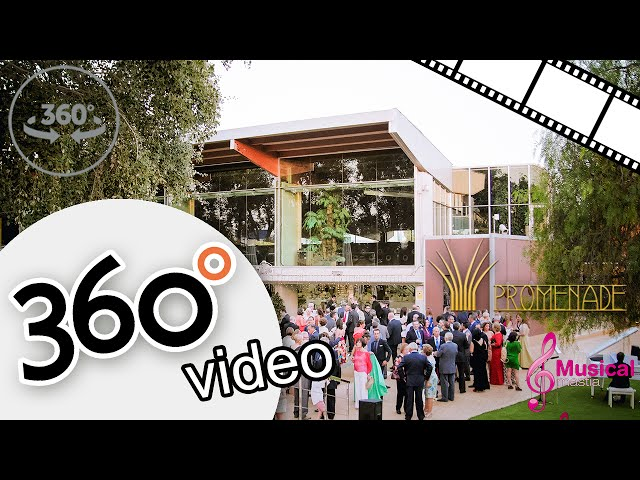 360º video boda Piano Blanco Saxo Promenade