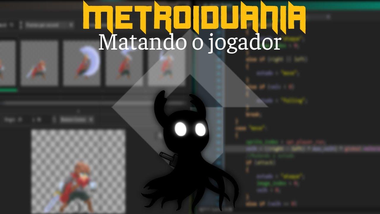 MetroidVania 19 - Matando o jogador | Game Maker Studio 2