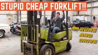 I Bought The CHEAPEST Running And Driving Clark FORKLIFT In The COUNTRY *Best Deal Ever*