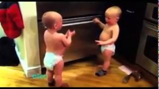 Funny twin babies talking in hindi