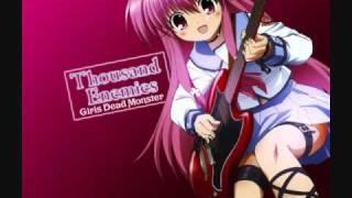 GirlDeMo(Angel Beats) - Thousand Enemies (Lyrics In Descript...