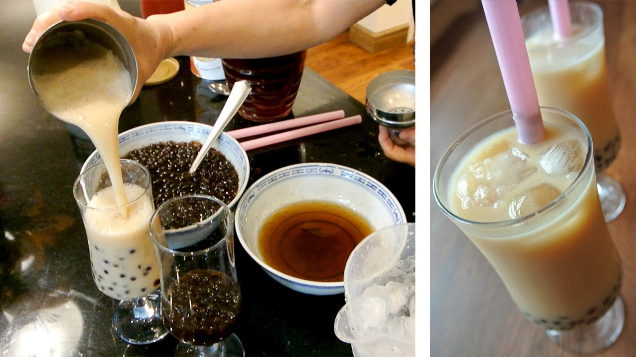 珍珠奶茶 Making Bubble Milk Tea Pearl Milk Tea Or Bo Ba Tea Taiwan Style