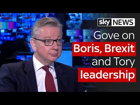 Gove on mistakes, Tory Leadership, Boris Johnson and Brexit