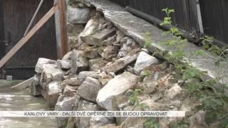 Karlovy Vary: Další dvě opěrné zdi se budou opravovat (TV Západ)