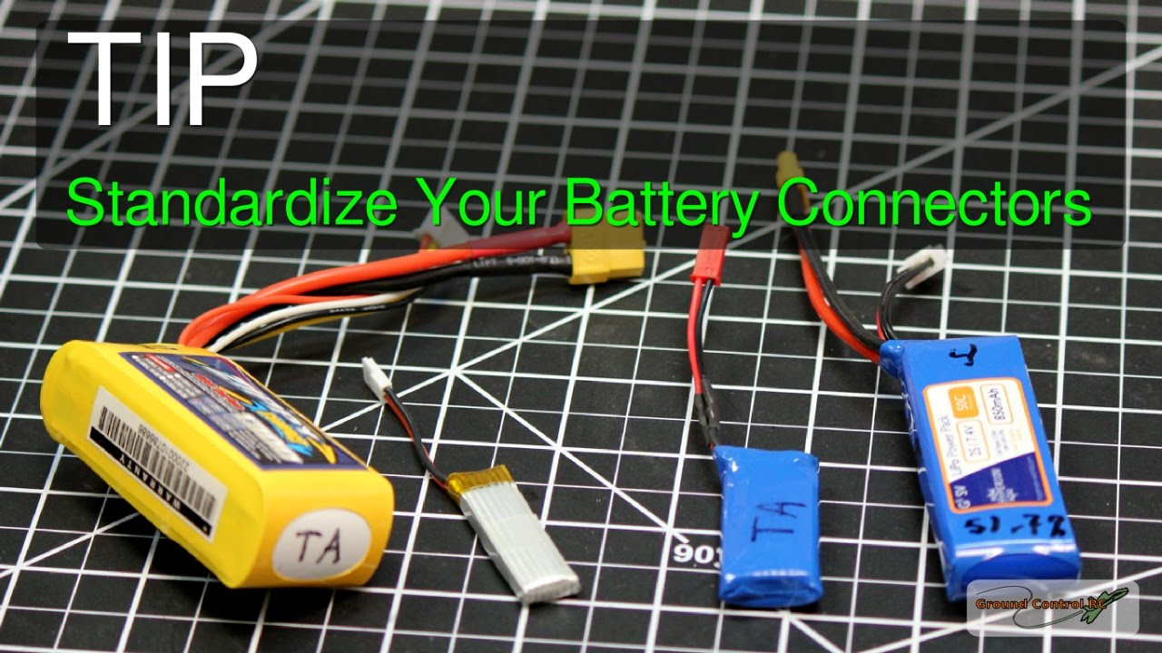 RC Tip #4 - Standardize Your Battery Connectors - YouTube