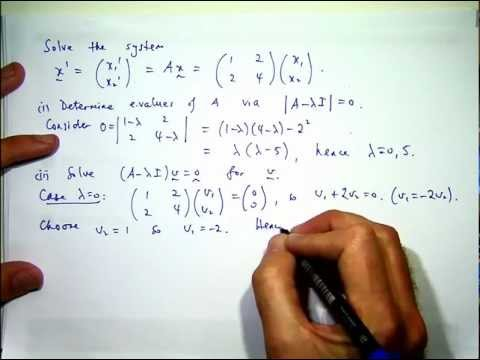 How to solve systems of differential equations - YouTube
