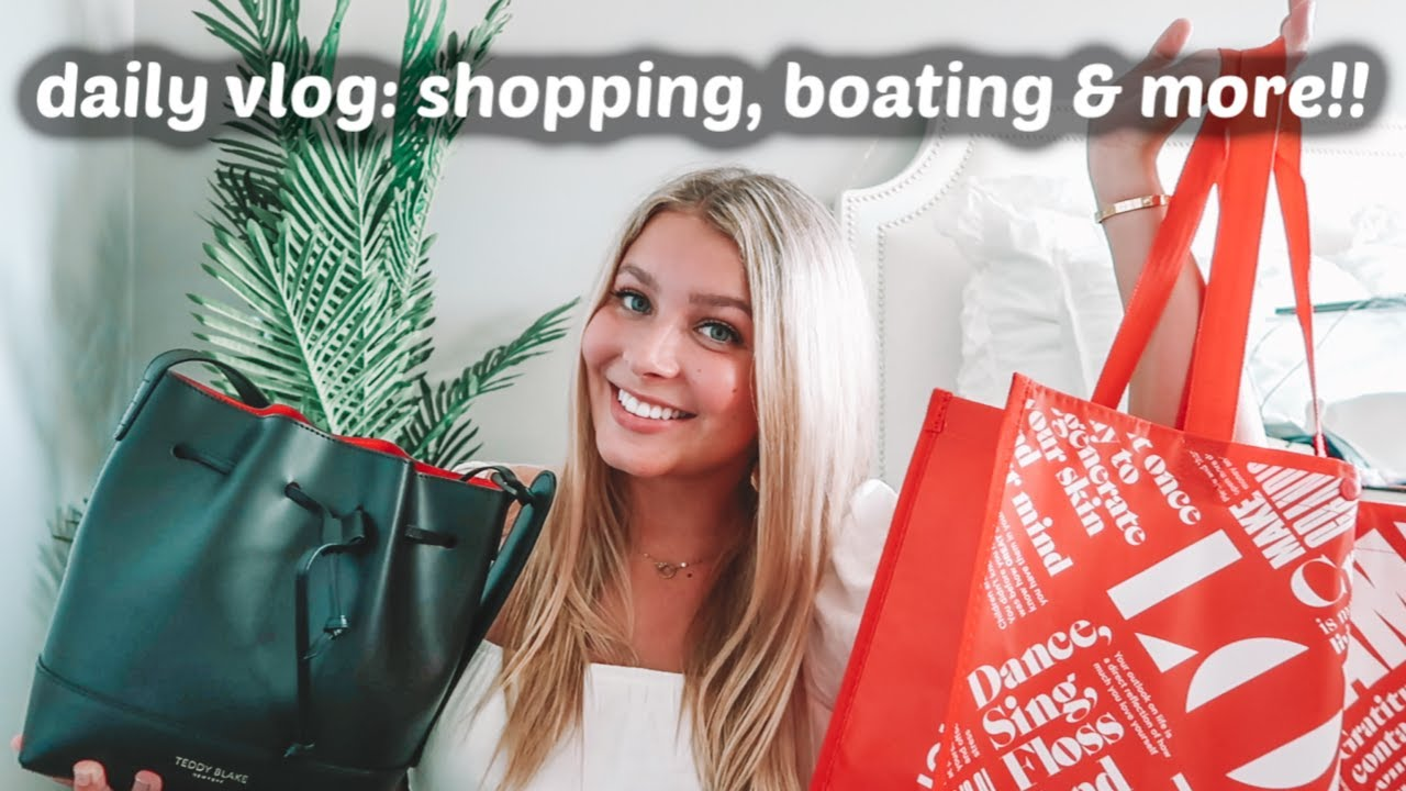 daily vlog: shopping, boating & more!!