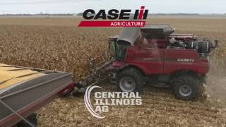 Harvest action from Wolf Family Farms w/ Case IH 8240 & Geringhoff head.
