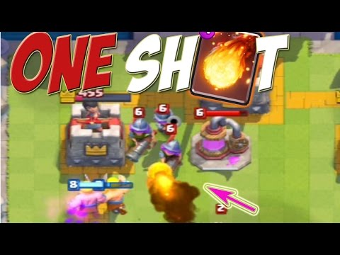 [ Clash Royale ]ONE SHOT | LEVEL UP YOUR CARD TO GAIN ADVANTAGE ARENA 7