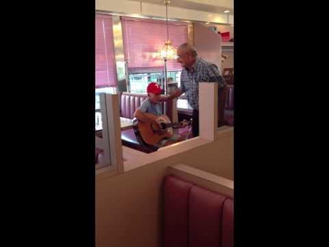 90 yr old man yodeling at the Freeway Diner in Deptford