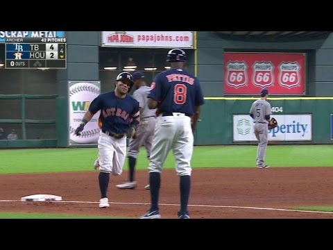 TB@HOU: Altuve hammers a two-run home run...