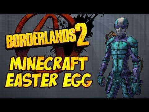 Borderlands 2 - Minecraft Easter Egg (Skin & Head!)