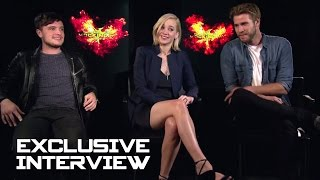 Jennifer Lawrence, Josh Hutcherson & Liam Hemsworth Exclusive INTERVIEW - HG Mockingjay Part 2