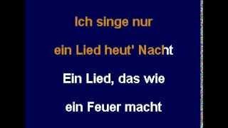 NUR EIN LIED - Thomas Forstner (Karaoke-CD+G)