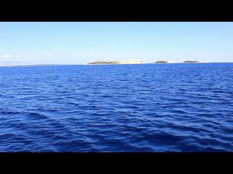 Boat ride from Unije to Susak, Croatia