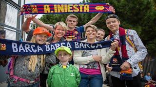 Jesper Sørensen i Barcelona 2015 sammen med Anne-Vibeke og begges familier