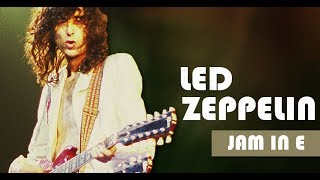 Led Zeppelin/Jimmy Page Style Backing Track Jam in E