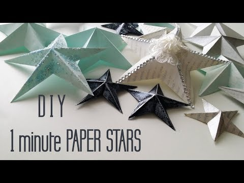 DIY One Minute Paper Star Christmas Ornaments
