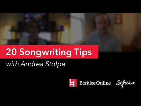 Songwriting Tips to End Writer's Block for Songwriters | Andrea Stolpe | SoFar Sounds