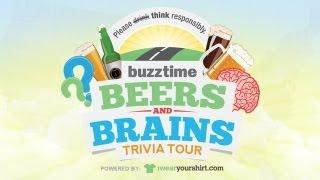 Buzztime Beers & Brains Trivia Tour