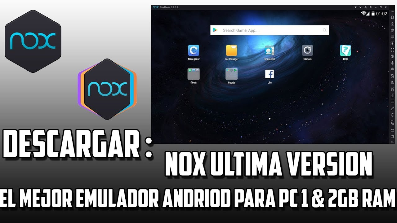 descargar emulador android para pc nox