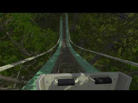 Montanha Russa Abandonada! - Simulador 3D - Abandoned Roller Coaster!