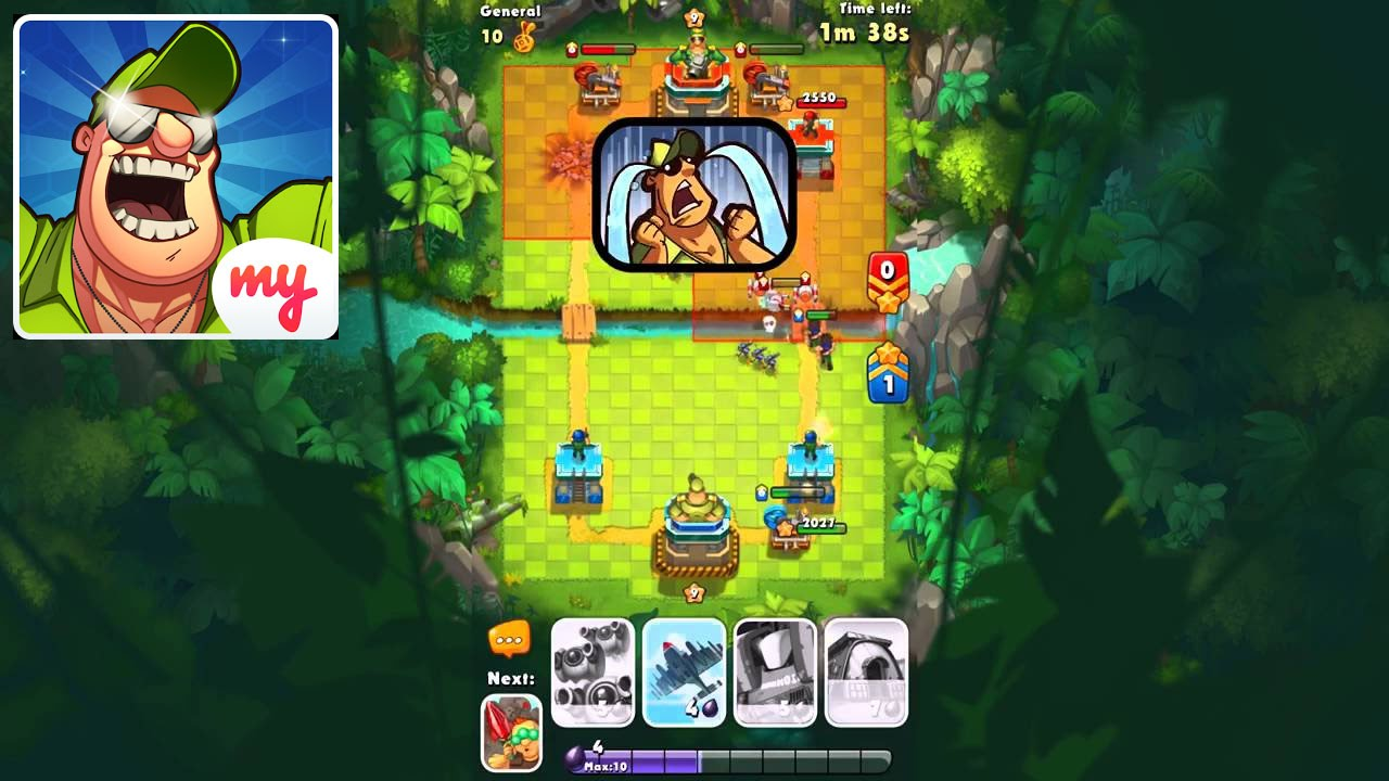 Jungle clash android gameplay and tutorial clash royale military