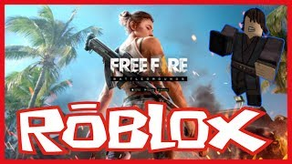 Playing Free Fire Live-Roblox :v