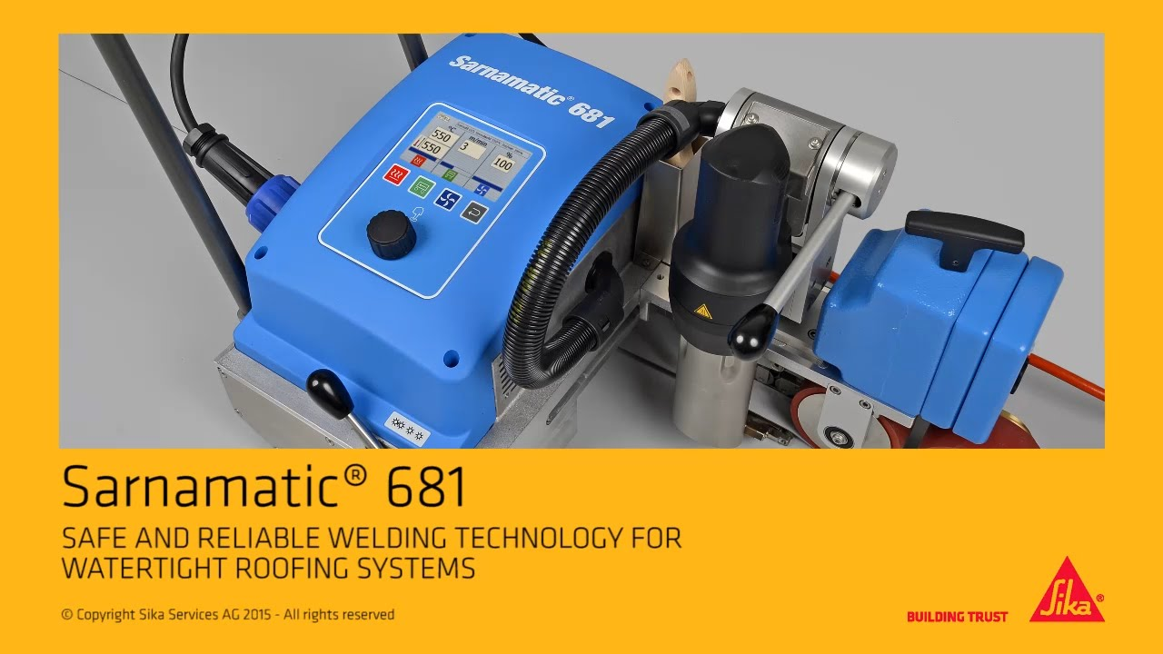Sarnamatic 681 Hot Air Welding Machine For Tpo Fpo