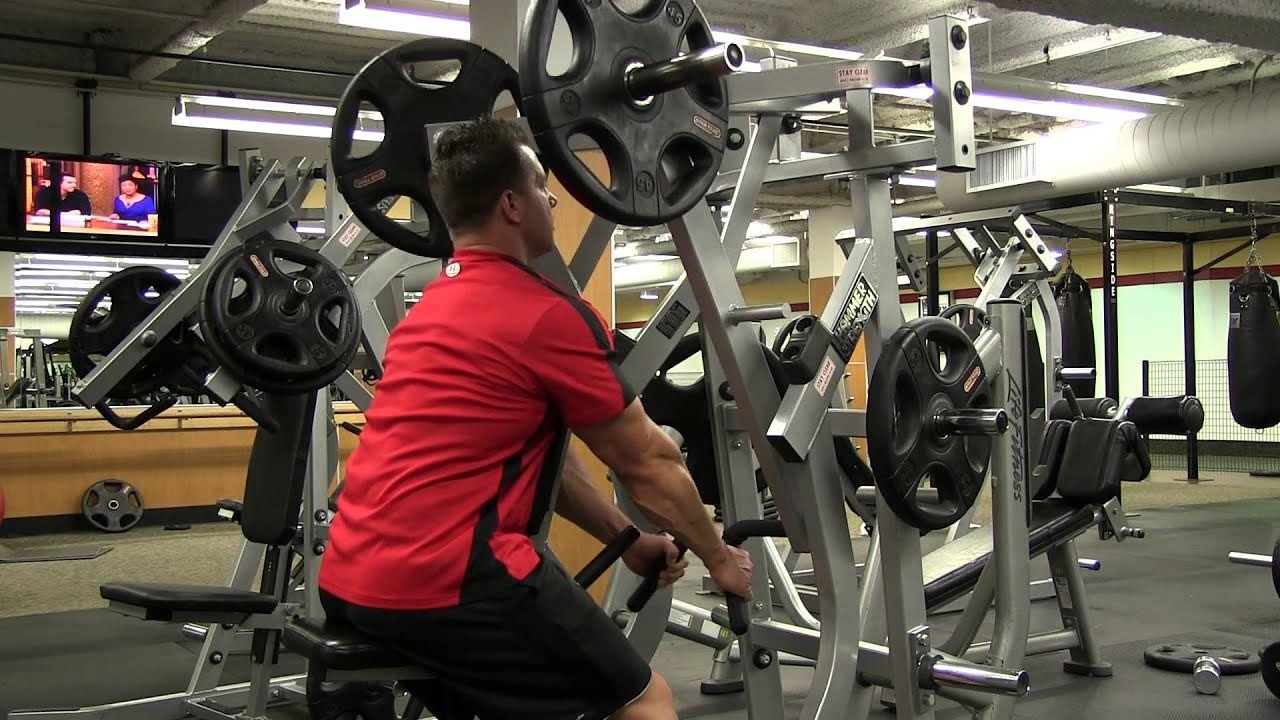 hammer strength isolateral low row shoulder shrug youtube