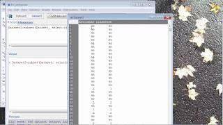 R-Commander - Erstellen Sie eine Teilmenge des Datensatzes