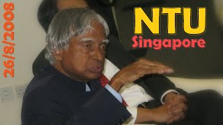 A.P.J. Abdul kalam at Nanyang Technological University (NTU), Singapore