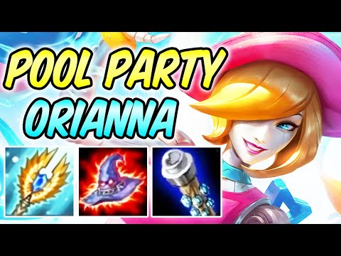 POOL PARTY ORIANNA MID 40% CDR Phase Rush AP Magic Penetration | Build & Runes | League of Legends