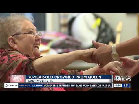 78-year-old crowned prom queen in Illinois