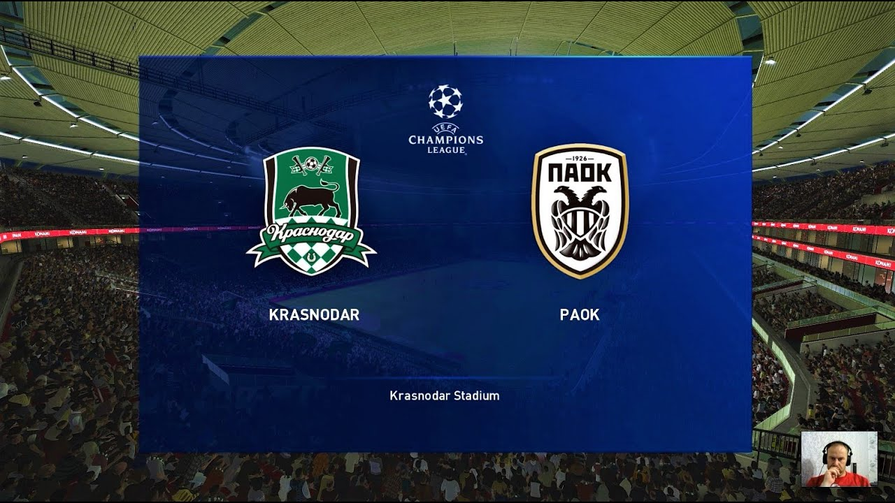 Pes 2020 Krasnodar Vs Paok Uefa Champions League Gameplay Pc Youtube