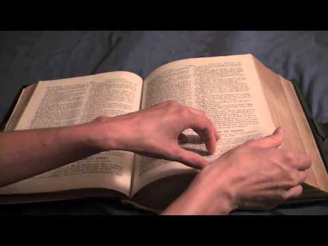 ASMR An Old German Bible, Page Flipping