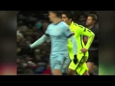 New footage suggests Luis Suarez did NOT bite Martin Demichelis despite Champions League tangle   Mi