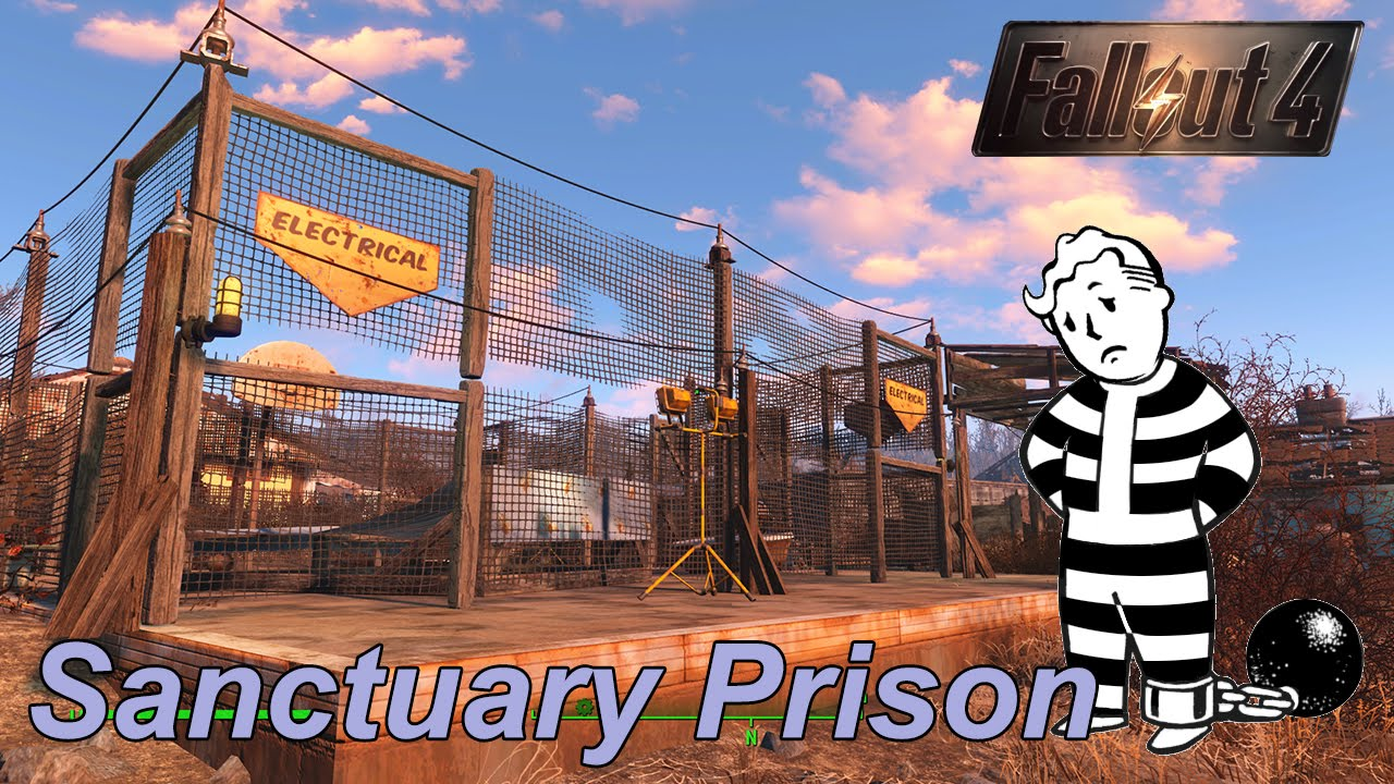 Fallout 4 sanctuary prison settlement build no mods youtube for Fallout 4 bedroom ideas