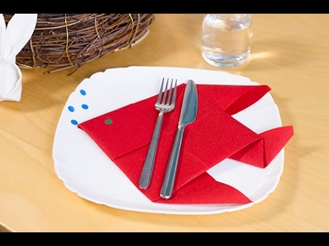 Diy Pliage De Serviette En Poisson Pour P Ques Ou Le 1er Avril Youtube