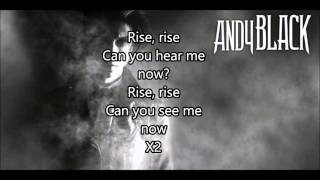 ANDY BLACK - DROWN ME OUT LYRICS ON SCREEN